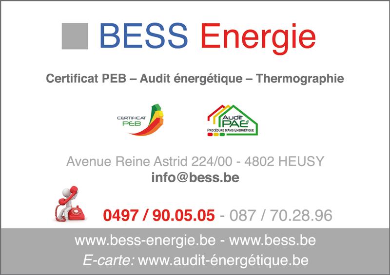 BESS.lu – Bureau d'Etudes Stéphane Séquaris – Exp. personnelle de 20 années en Techniques Spéciales et en Utilisation Rationnelle de l'Energie